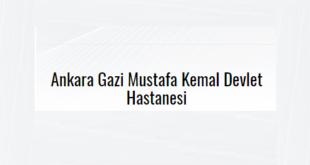 Gazi Mustafa Kemal Devlet Hastanesi