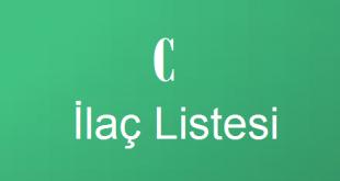C ile başlayan İlaç Listesi