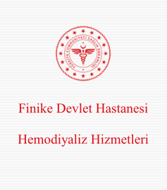 Finike Devlet Hastanesi Hemodiyaliz Hizmetleri