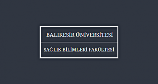 Balıkesir Üniversitesi Sağlık Bilimleri Fakültesi